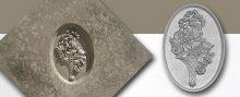 E20732KD Oval Bouquet2 Medallion Mold